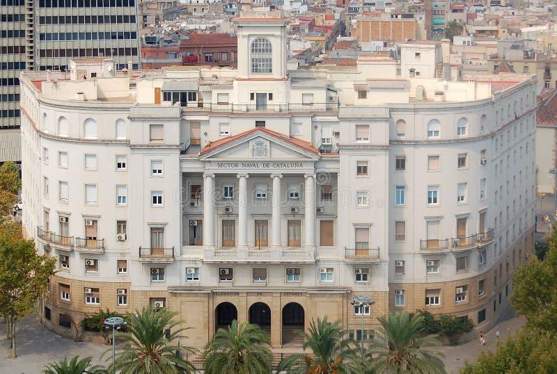 Участок Военноморск de Catalunya Здание - Барселона стоковые изображения rf