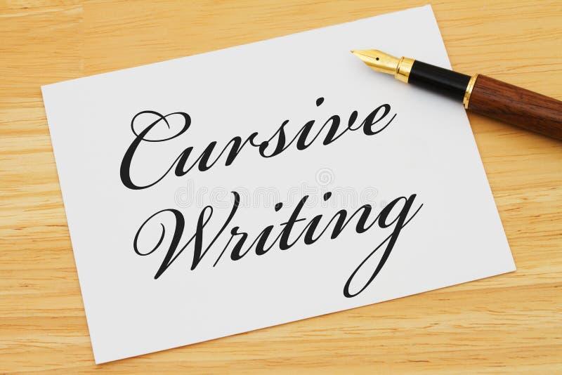 Учащ как написать cursive стоковое фото rf