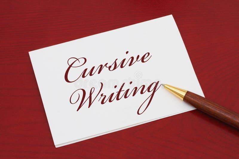 Учащ как написать cursive стоковое изображение rf