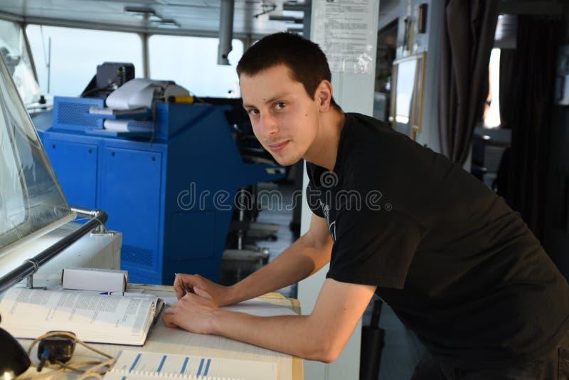 Уча время для кадета палубы стоковое фото