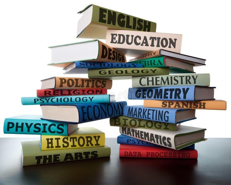 учебники изучения стога школы коллежа книг стоковая фотография