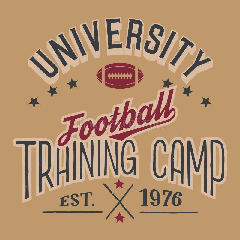 Учебный лагерь футбола университета иллюстрация штока