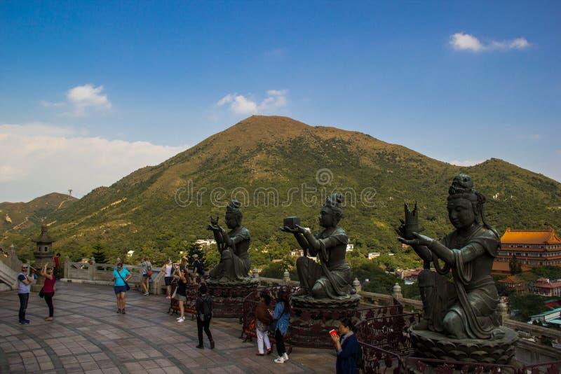 ученик большого Будды стоковая фотография