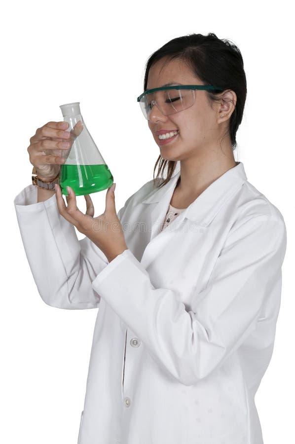 Ученый женщины стоковая фотография rf