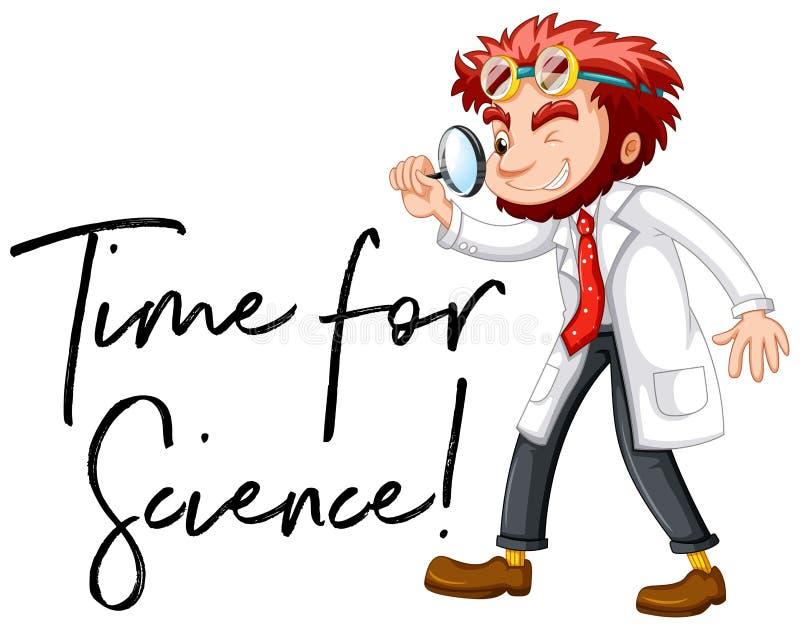 Ученый и время фразы для науки бесплатная иллюстрация