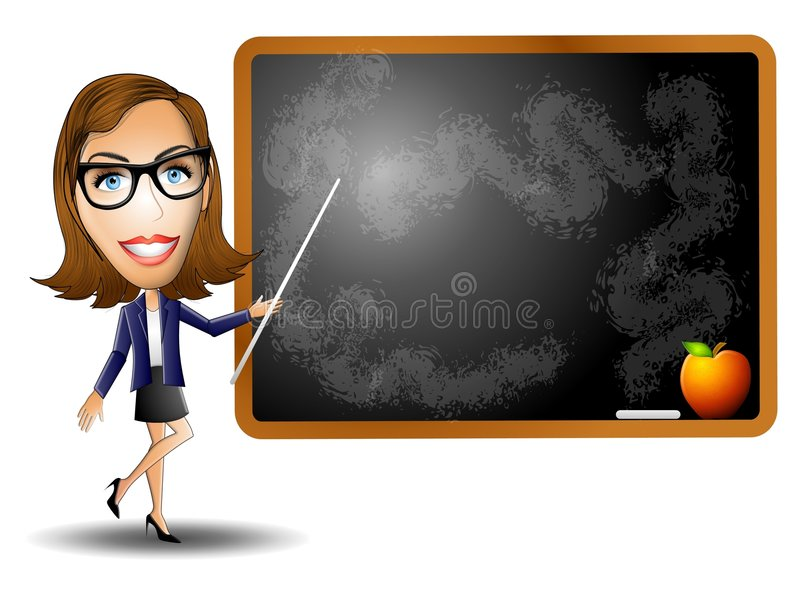 учитель женщины chalkboard иллюстрация штока