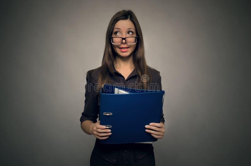 Учитель или женщина секретарши стоковое фото