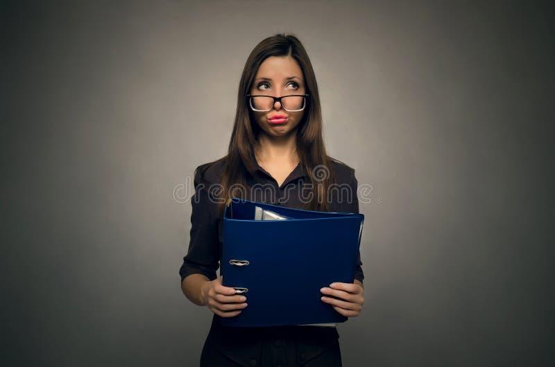 Учитель или женщина секретарши стоковая фотография
