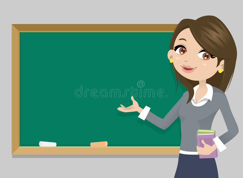 Учитель перед chalkboard иллюстрация штока