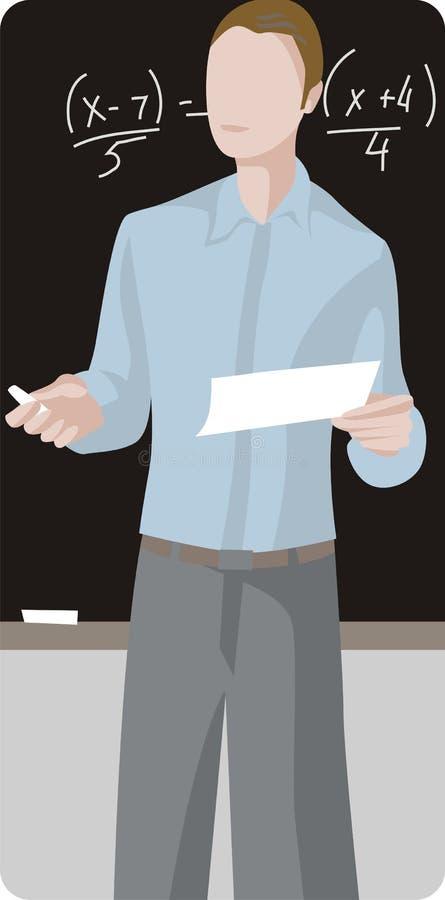учитель серии иллюстрации иллюстрация вектора