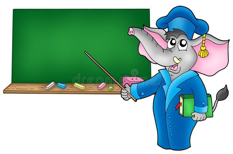 учитель слона 2 шаржей бесплатная иллюстрация