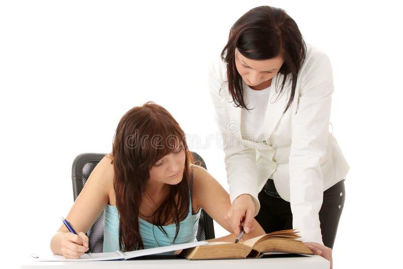 учитель студента стоковые изображения rf