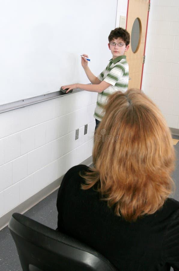 учитель студента стоковое изображение