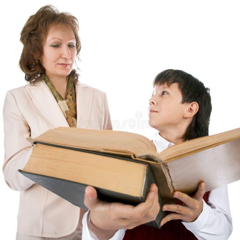 учитель школьника стоковое изображение