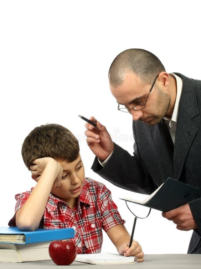 учитель школьника стоковые фото