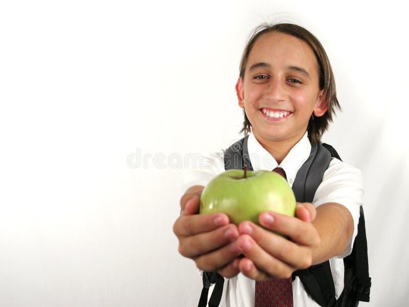 учитель яблока стоковое изображение