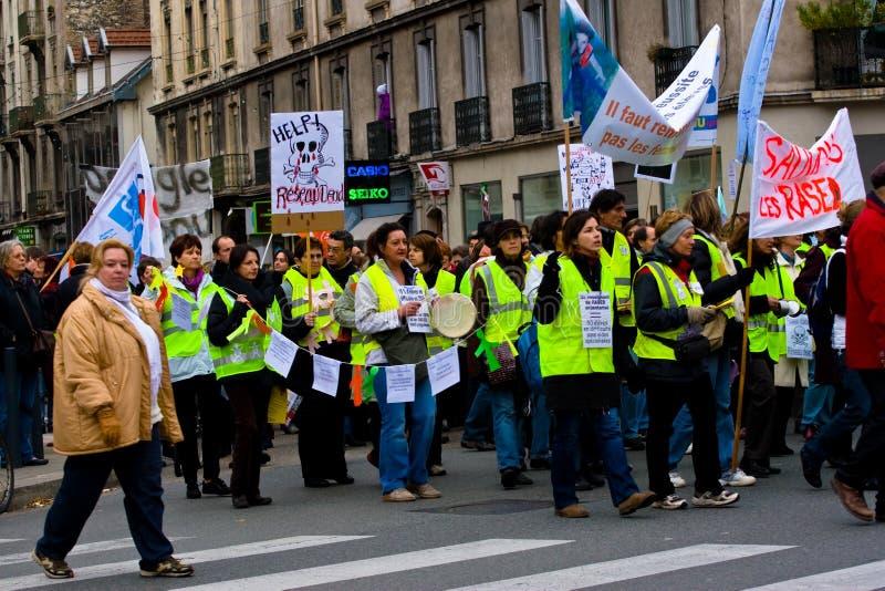 учителя забастовки франчуза стоковые изображения rf