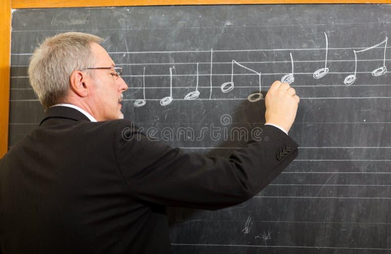 Учитель музыки стоковые изображения rf