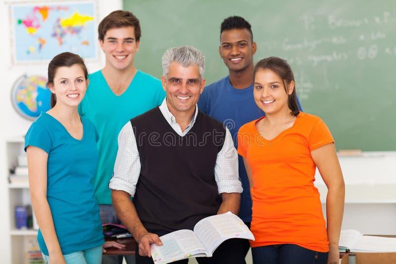 Учитель студентов школы стоковое изображение rf