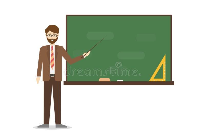 Учитель с chalkboard иллюстрация штока