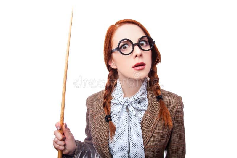 Учитель Redhead стоковое фото