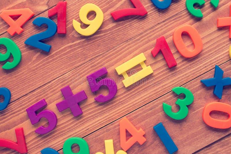 Учить вычисление математики стоковая фотография