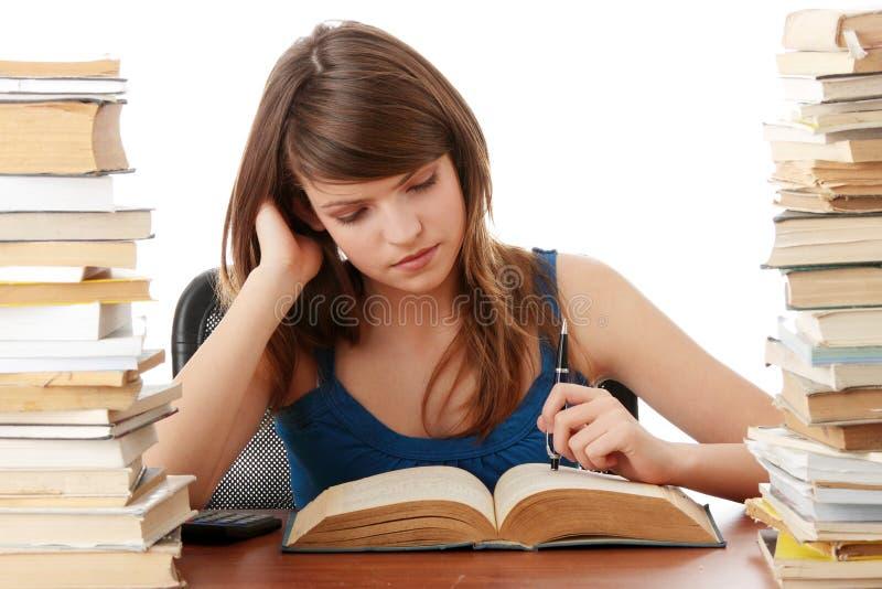 учить девушки предназначенный для подростков стоковые изображения rf