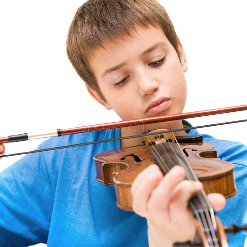 учить игру к скрипке стоковое изображение