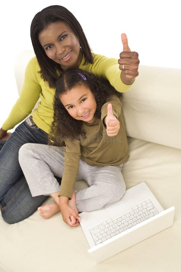 учить семьи стоковое изображение