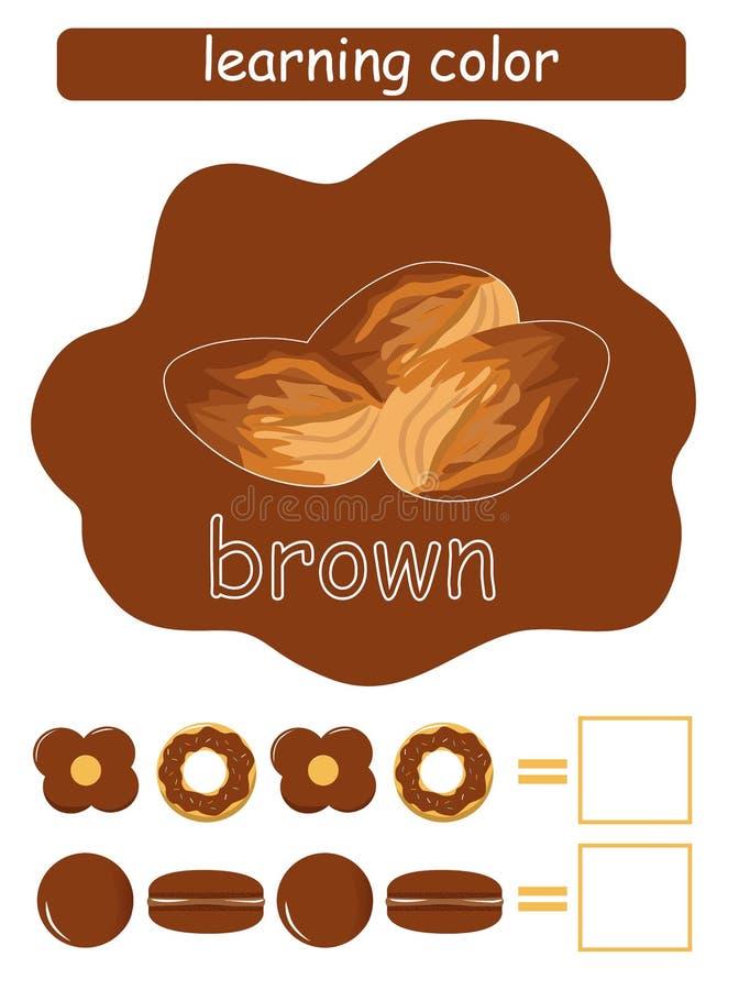 Учить цвет brougham Воспитательная игра для детей Имя цвета whit проводника цвета бесплатная иллюстрация