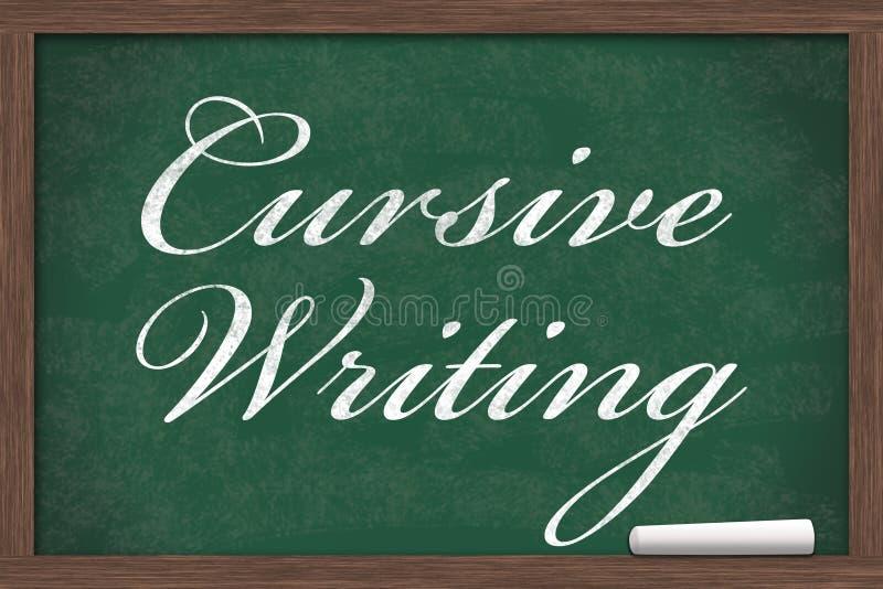Учить cursive сочинительство стоковое изображение rf