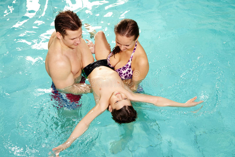 учить swim к стоковая фотография rf