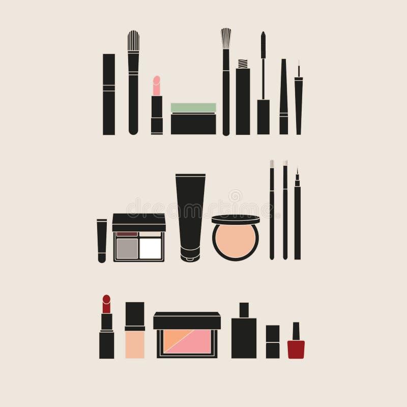 учредительство concealer порошок румян сделайте продукты маникюра вверх mascara eyel бесплатная иллюстрация