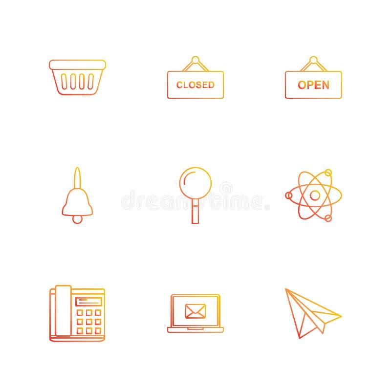 ушат, закрытый, открытый, колокол, поиск, ядерный, телефонирует, складывает иллюстрация штока