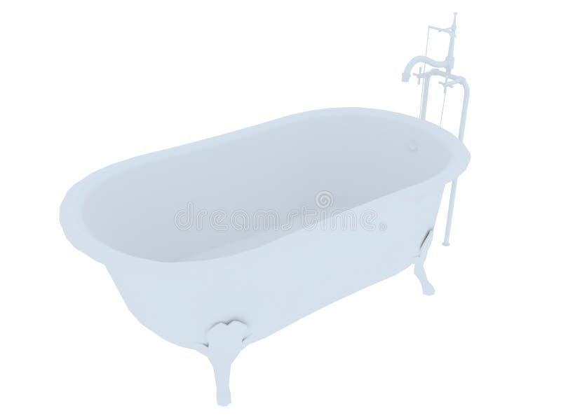ушат фасонируемый ванной старый иллюстрация вектора