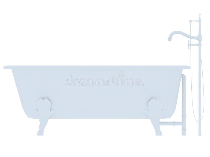 ушат фасонируемый ванной старый бесплатная иллюстрация