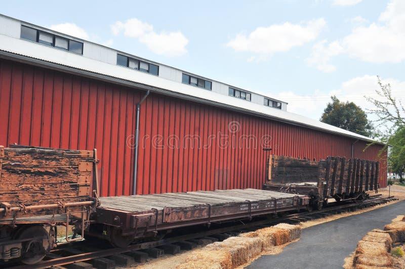 Ушедшая эпоха планшетная и автомобили железной дороги перевозки/поголовья стоковые изображения rf