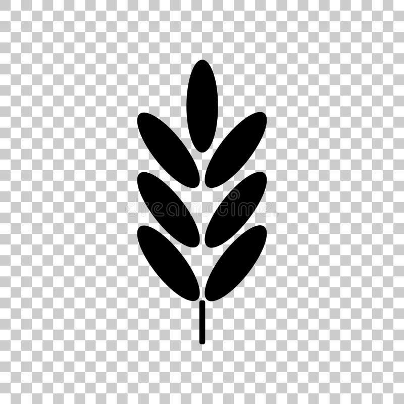 Уши пшеницы, хлопьев вектор неба овсов иллюстрации поля уха предпосылки Уши Rye Иллюстрация значка вектора иллюстрация штока