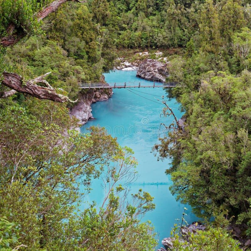 Ущелье реки Hokitika, западное побережье, Новая Зеландия стоковые фотографии rf