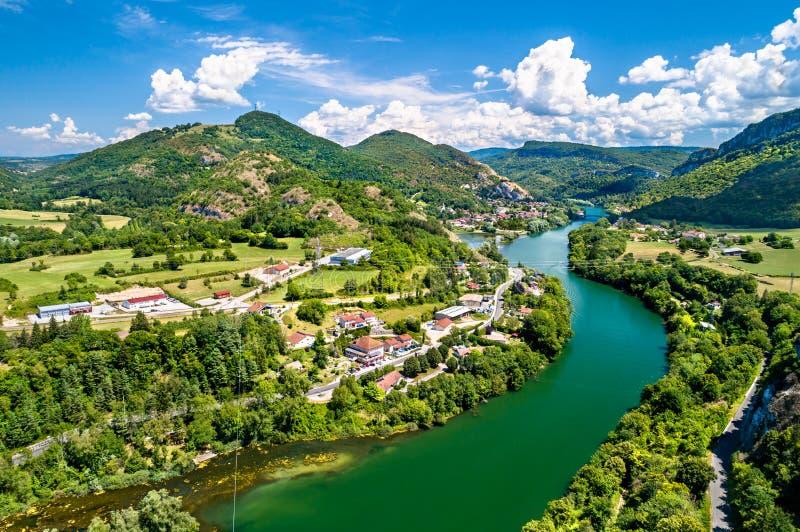Ущелье Ain реки в Франции стоковые изображения rf