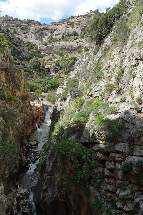 Ущелье Gaitanes на Caminito del Rey в Андалусии, Испании стоковые фото