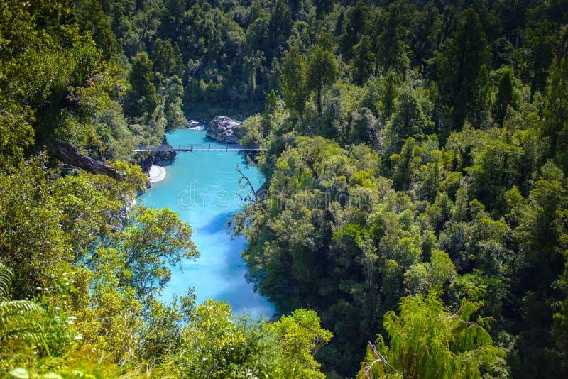 Ущелье Hokitika в Новой Зеландии стоковое изображение rf
