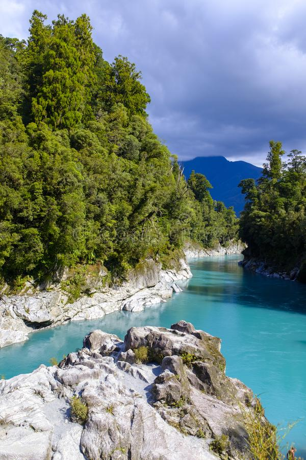 Ущелье Hokitika в Новой Зеландии стоковое фото