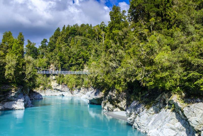 Ущелье Hokitika в Новой Зеландии стоковая фотография rf