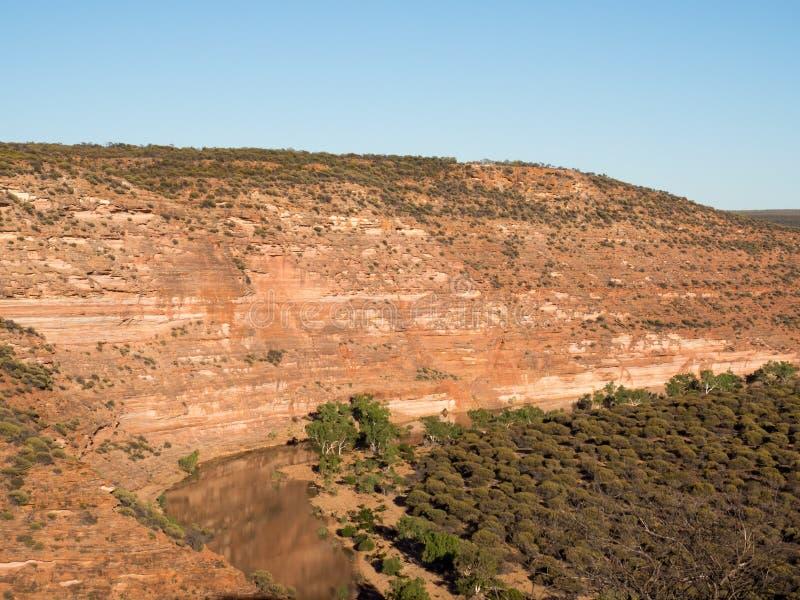 Ущелья и река Murchison, национальный парк Kalbarri, западная Австралия стоковое изображение