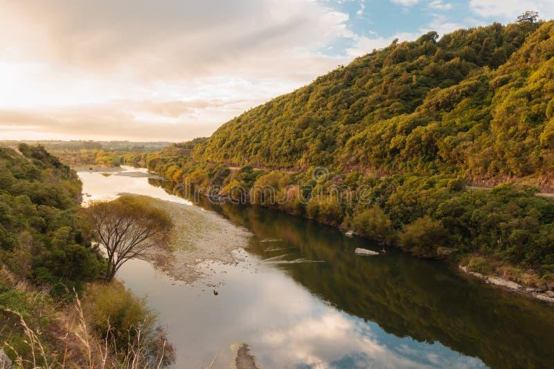 Ущелье Новая Зеландия Manawatu стоковое изображение