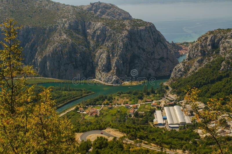 Ущелье реки в Хорватии стоковые фотографии rf