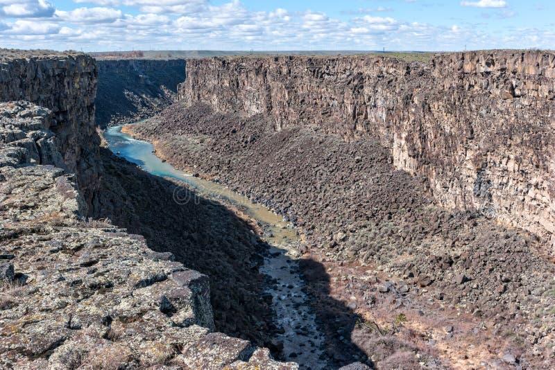 Ущелье реки Malad стоковые изображения rf