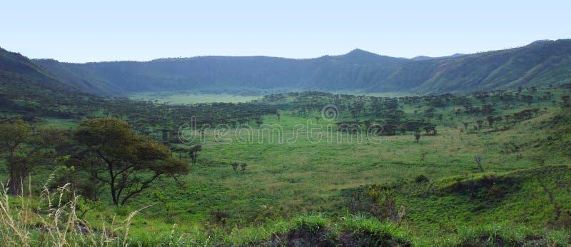 Ущелье Chambura в Уганде стоковые фото