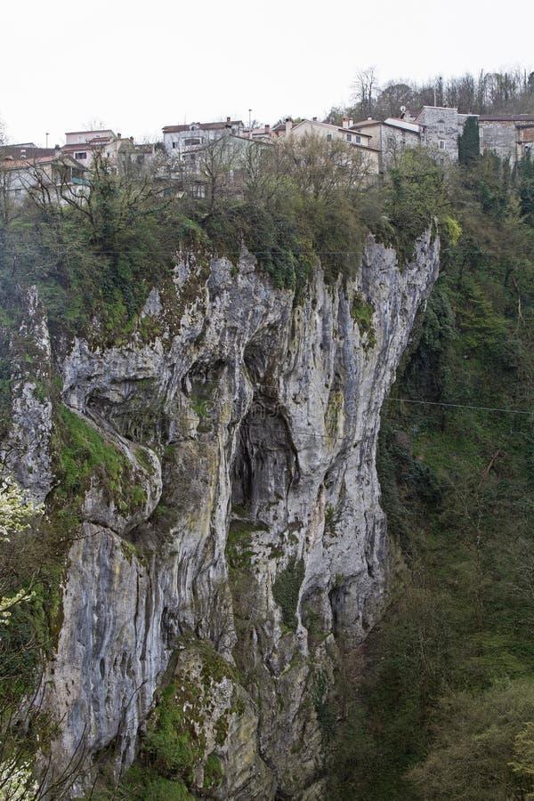Ущелье Pazincica стоковое фото